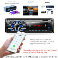 Car Stereo 1 Din Dc12V Mp3 Player Bluetooth Aux Usb Tf Fm Radio Audio In-dash