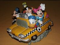 VINTAGE DISNEY MICKEY  MINNIE MOUSE GOOFY DONALD PLUTO FAB 5  TAXI COIN BANK