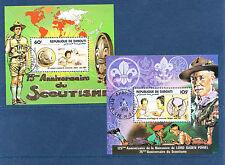 Djibouti  timbre  blocs spéciaux  congrès scouts   num: BF 539/40  oblitéré