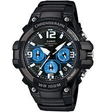 Casio MCW-100H-1A2 Analog Men's Watch Chronograph Black Blue Heavy Duty Diver