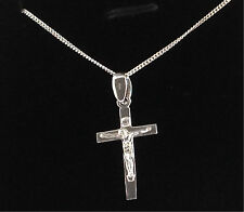 925 Sterling Silver Cross Crucifix Necklace Or Pendant Gift Present Mens Womens