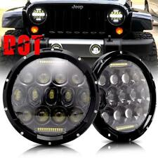For Suzuki Samurai SJ410 7'' Round LED Headlight High/Low Beam Signal DRL 2Pcs