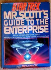 Mr. Scott's Guide to the Enterprise HC/DJ Shane Johnson 1987 w Star Trek IV info