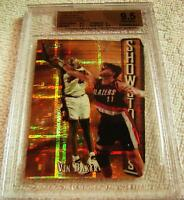 VIN BAKER 1997 FINEST EMBOSSED DIE-CUT GOLD ATOMIC REFRACTOR 30/74 BGS 9.5 POP 1