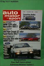 AMS Auto Motor Sport 7/83 * Ford Sierra XR4i Porsche 944 DB 190E BMW 501