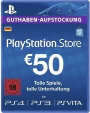 DE €50 PLAYSTATION NETWORK Prepaid Card 50 EUR PSN Karte Key PS3 PS4 PSP Code