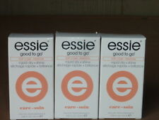 Lot of 3 bottles Essie Good To Go Top Coat Rapid Dry Shine Finition 0.46 fl oz
