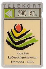 EUROPE  TELECARTE / PHONECARD .. DANEMARK 20KR GPT PRIVEE HORSENS JYDSK 01/92