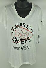 d75922c5b Nike Kansas City Chiefs NFL Platinum Dri Fit Thin White T-shirt Womens XS