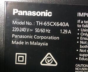 Original Panasonic TH65CX640A Complete Parts
