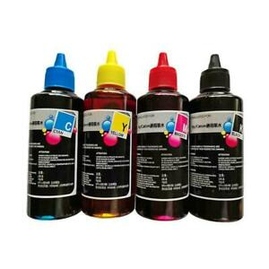 100ml Color Ink Cartridge Refill Replacement Kit For HP&Canon Printers UK V9H3