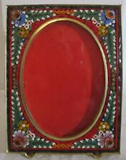Vintage Micro Mosaic Inlaid Art Glass Easel Miniature Picture Frame Italy
