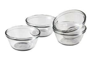 Anchor Hocking 6-Ounce Glass Custard Cups, Set of 4