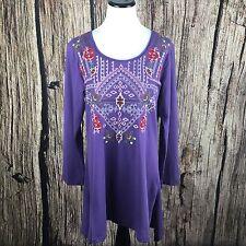James Bryan Embroidered Dress Women's Boho Tunic Dress Size M NWT