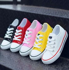 Boys Girls Canvas Shoes Plimsolls Trainer Skate Shoes Trainer Kids Children