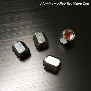 4x Aluminium alloy tire air valve stem cap wheel For BRABU GLC CLA GLE C E