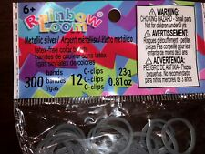 Authentic Rainbow Loom Silicone Rubber Bands Refill 600+bands 24C clips