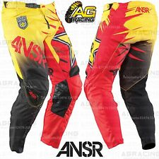 Answer 2015 Adult Rockstar Yellow Red Race Pants 30 inch Motocross Enduro Quad