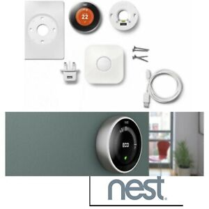 Nest Learning Thermostat program smart control heat 3 Generation Google T3010GB