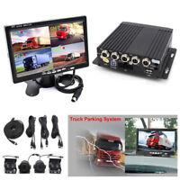 "4CH H.264 Car DVR MDVR Video Recorder 7"" Car LCD Monitor+4x Night Vision Camera"