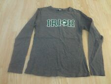 Juniors Notre Dame Fighting Irish Juniors L L/S T-Shirt Tee (Grey) Champion