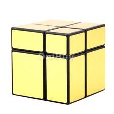 2x2x2 Vitesse de Cube Magique Jouet Puzzle de Torsion Super Lisse Doré
