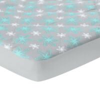 "Pack N Play Mattress Pad Cover Printed Mini Crib Quilted Playpen Pad 39""×27"""
