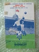 1950 FA Cup FINAL Official Programme- ARSENAL v LIVERPOOL 29th April-