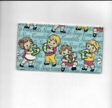 CAMPBELLS SOUP KIDS CHECKBOOK COVER FABRIC BLUE