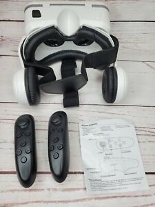 VR Headset With Built In Headphones And 2 Remote Controls