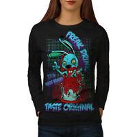 Blood Freak Bunny Zombie Women Long Sleeve T-shirt NEW | Wellcoda