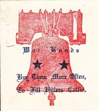 WWII Patriotic Prexie Liberty Bell War Bonds Milwaukee 1944 Cover ³