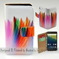 For Google Series - Abstract Feather Theme Print Wallet Mobile Phone Case Cover