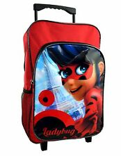MIRACULOUS LADY BUG CABIN BAG DELUXE TROLLEY BACK PACK TRAVEL SUITCASE KID CB