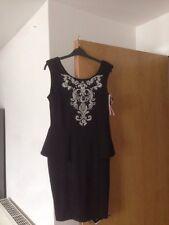 Ladies Lipsy BNWT Black Size 14 Peplum Dress