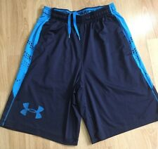 Under Armour Shorts Men's Size Small Loose With Pockets Blue Large Logo