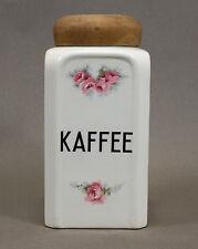 KAFFEE Vorratsdose MAX ROESLER, Rosendekor, Rosenmuster,  Jugendstil um 1900
