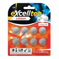 3v LITHIUM CR BUTTON BATTERIES CR2032 CR2025 CR2016 PACK OF 8