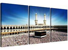 Islamico mecca Kaaba a Hajj a Buon Mercato Tela Art 3 pannello per una sala da pranzo