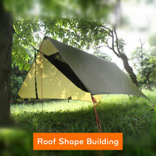 Outdoor Waterproof Camping Tent Tarp Sun Shelter Rain Cover Camp Gear-po