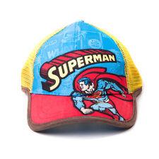 Officiel Rétro Superman Comic Style Bleu et Rouge Trucker Cap Casquette Chapeau (Nouveau)