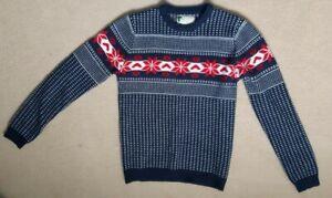 Kids boys girls navy blue knitwear jumper top age 10 years