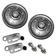 """Garage Door Pulley 3"""" and Safety Cable Guide for Extension Springs Pair New"""