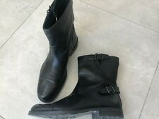 GUCCI Black Leather Biker Boots with Buckles UK 7-7,5 EUR 40