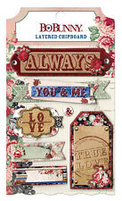Bo Bunny Love and Lace Layered Chipboard Sticker BoBunny embellishment