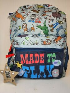 """Disney Toy Story 4 Kids Toys At Play Backpack Blue Youth School Bag 16"""" NEW"""