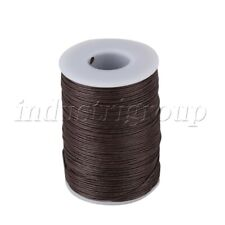 100m 0.7mm Natural Hemp Waxed Thread Sewing Cord for Leather Craft Ramie