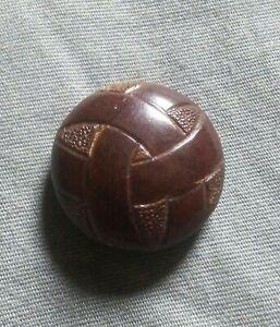 Antique Wood Clothes Button.