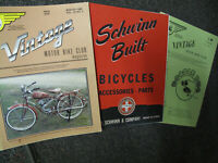 SCHWINN  1 BUilt 'S PARTS & ACCESSORIES FREE FREE 2 VINTAGE motor bike club mag