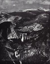 1950s Vintage ANSEL ADAMS Yosemite Valley High Sierra Landscape Photo Art 12X16